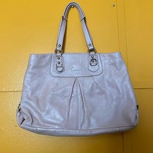Powder pink coach bag